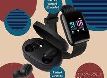 عرض Smart Bracelet M7 + Redmi Airdots
