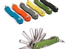 حافظة مفاتيح خفيفة الوزن بألوان متعددة
