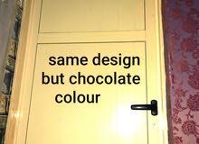 aluminium doors chocolate colour