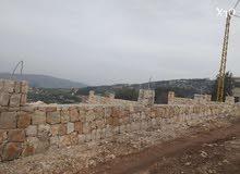 ارض لببيع في الدورة عكار مذنرة بحائط حجر قاصوفي منطقة طبيعية خلابة