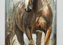 Horse drawing Animal oil painting