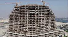 شقة لقطة غرفتين وصالة علي زاوية اطلالة علي برج خليفة بالجداف دبي