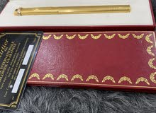 قلم عدد 2( فاندم نوادر الكارتير مطلي ذهب عيار 18)