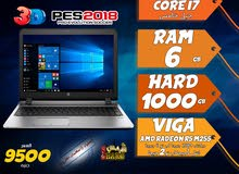 laptop hp core i7 ram 6 hdd 1000 جيل خامس ب2 كارت شاشة لالعاب 2018 وبرامج الجرافيك