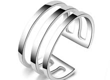 Anillos Bague Adjustable silver ring