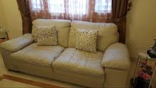 Leather sofa set ivory colour 7 seater