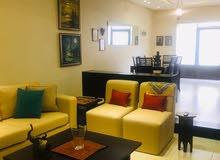 للايجار  شقة مفروشه  سوبر ديلوكس  في منطقة الرابية 2 نوم مساحة 100 م² -  ط ارضي