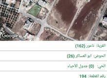ارض للبيع في منطقة ابو العساكر / ناعور