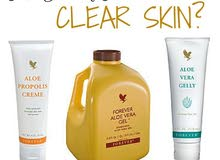 Aloe gel for clear skin and shiny hair