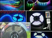 حبل LED بطول 5 متر متغير الالوان والحركات مع ريموت 15دينار