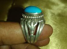 خاتم فضه بجوهره الفيروز السيناوى الاصلى