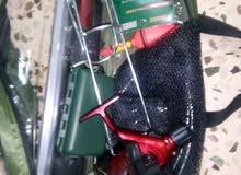سنارة صيد سمك بكج كامل مع شبكة غرف