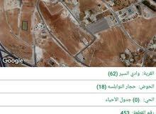 ارض 850م على طريق المطار حوض حجار النوابلسة