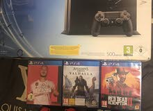 ps4 with game and 2 Controls red 1550