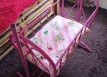 سرير اطفال حديد وكوت اطفال وكاله استخدام خفيف