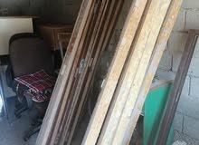 للبيع عدد 5 بيبان خشب مع الفريم بحاله ممتازه مقاس الطول: 208 سم العرض: 72 للبيع