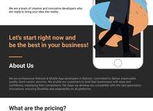 Website & App Development  تصميم و برنامج الموقع الإكتروني و تطبيقات الموبايل