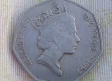 عملة نادرة تعود للملكة إليزابيث 2