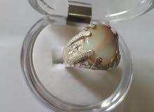 خاتم فضه عمانيه بحجر أوبال