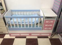 كاروك +سرير طفل+ديلاب.
