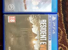 resident evil 7 و buttlefeild 1 اجمل العاب PS4 للبيع