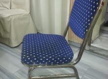 كرسي كروم مصري مع كفر جلد