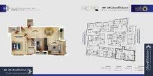 شقة للبيع في مسقط مساحتها 102.86متر الطابق الارضي الى السطح