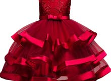 فستان الورد الأحمر كرانيش - أحمر