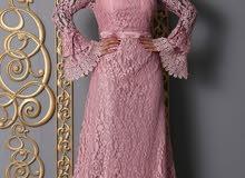 عباية فستان دانتيل ألوان