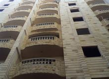 تقسيط حتى 40شهر تملك شقة 115م نصف تشطيب محارة وكهرباء وسباكة بالبيطاش بيانكى برج المهدى
