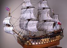 نموذج مطابق لسفينة حربية (Handmade) للبيع