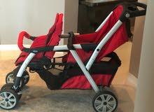 عربة اطفال شيكو مزدوجة Chicco Twin baby trolly
