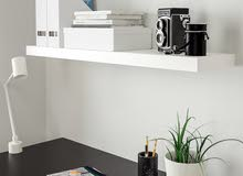 ikea white shelves with wall stand