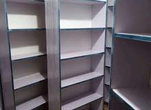خزانة رفوف  2.2 م طول و 80 سم عرض  خشب mdf 18mm 12000 دج توصيل و تركيب مجاني مرح