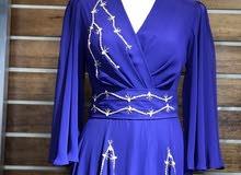 فستان ازرق شغل خفيف