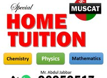 special private tutor for Maths, Physics & Chemistry