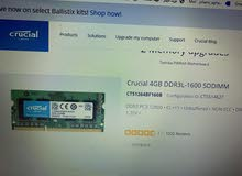 مطلوب RAM لابتوب توشيبا