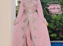 فستان شيفون مطروز