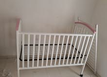 bed with matress for baby girl.
