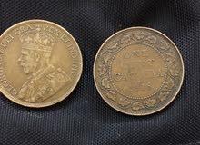 عملتان نادرة تعود لعام 1918-1919 كندا قبل 100عام t:0569591060