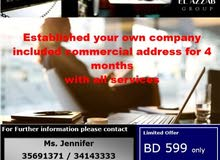 We provide Company formation plus Commercial office!