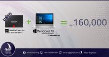 هارد SSD مستخدم + Windows 10 Key أصلي