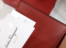 sahara ferragamo red wallet new