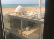 لايجار السنوي شقة غرفة وصاله بناية جديدة اول ساكن اطلالة علي البحر مباشرة