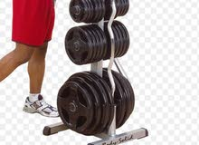 bodysolid olampic plate rack