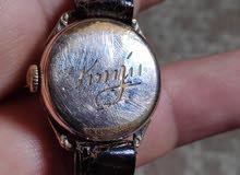 ساعة سويسرية قديمة  نسائية مبخوخة بالذهب
