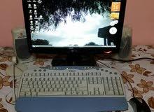كمبيوتر مكتبي مع ملحقاته (مستعمل) بسعر 25000 ريال يمني