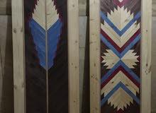 2باب غرفه رسم بقطعيات الخشب old decoration