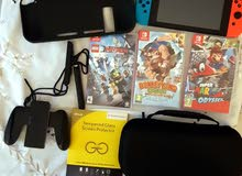 Nintendo Switch used 10 days with 3 games+ back cover+bag+protection screen for sale