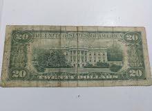 ورقة نقدية من فئة 20 درلار لرئيس jackson الولايات المتحدة الأمريكية